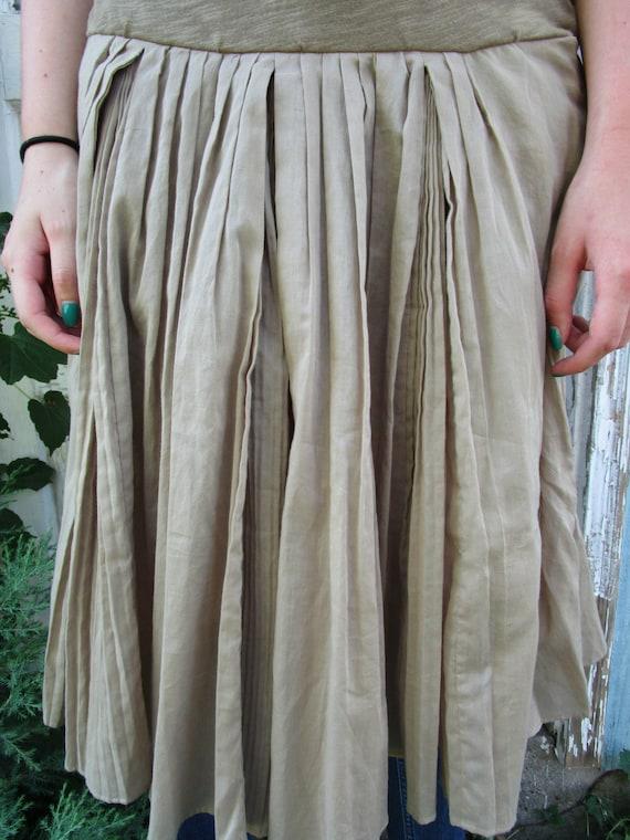 Khaki Small Waist emmevielle Drop Dress Upcycled Cotton w8aBwq