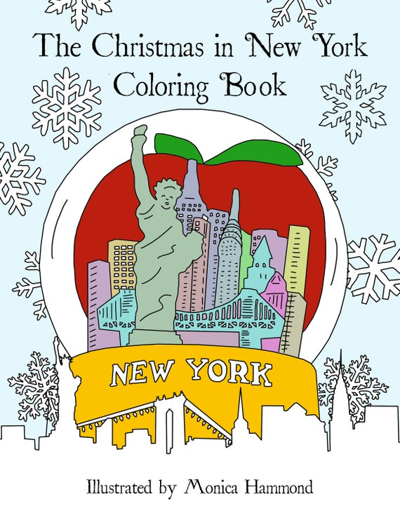 - The Christmas In New York Coloring Book Digital Download Etsy