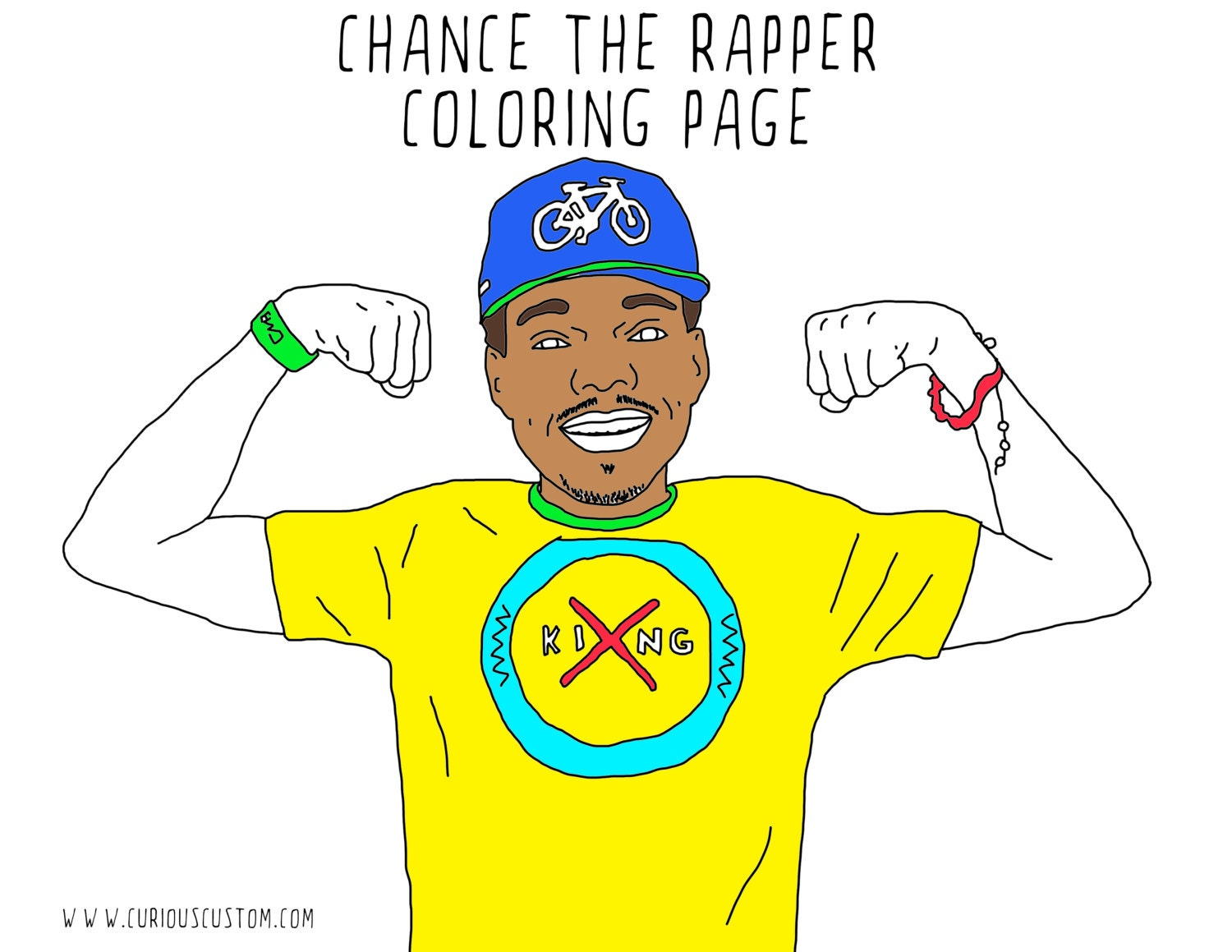 Chance The Rapper Adult Coloring Page Rapper Coloring Book | Etsy