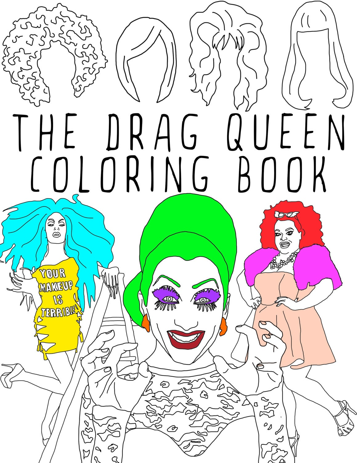 The Drag Queen Coloring Book Adult coloring book RuPaul | Etsy