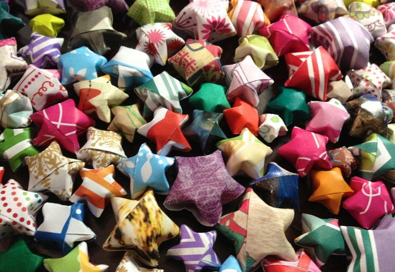 Flat Rate Box Crammed Full with Origami Lucky Stars image 0