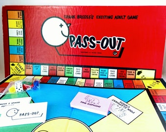 1986 Pass Out Pass-out Adult After Dinner Party Drinking Board Game