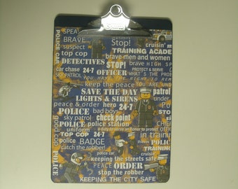 LEGO Policeman Altered Clipboard 9x12 Letter size
