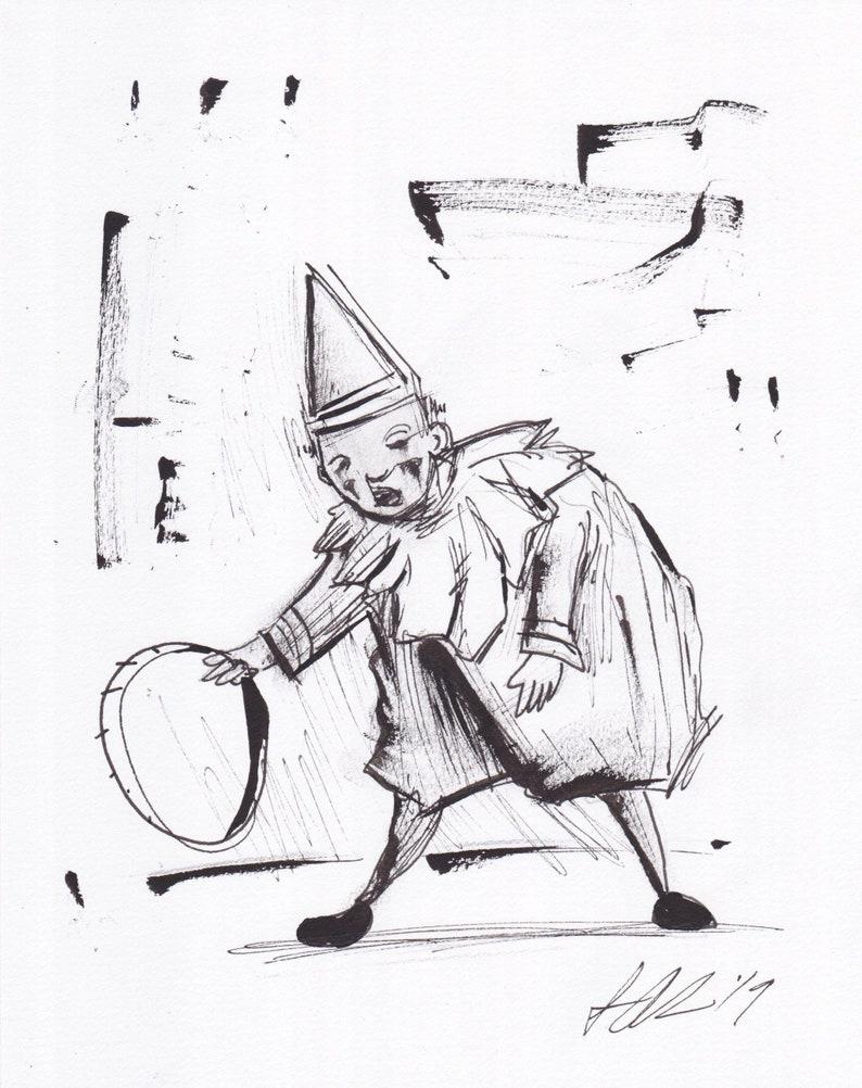 Clown Art Sketch