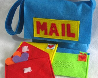 Mail Bag and Working Envelopes for Pretend Play c2eb0bd65103
