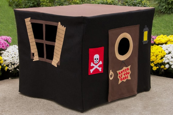 Pirates Hideout Kids Card Table Playhouse Cover