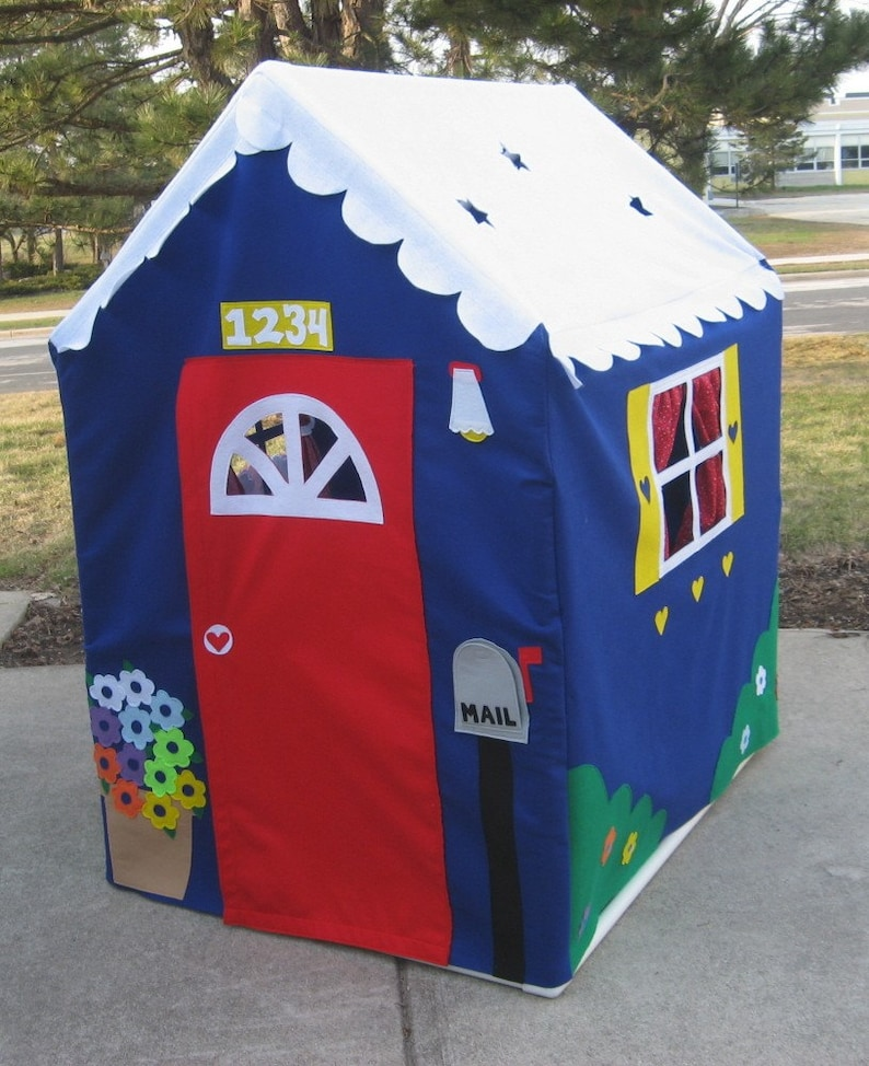 Other Styles Also Available Large Fabric Playhouse Fits PVC Frame Frame You Build Play Tent Indoor Playhouse Play Teepee Custom Order