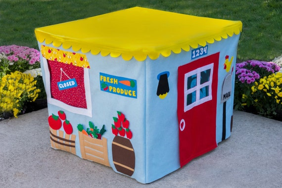 Farm Product Stand Kids Card Table Playhouse Cover