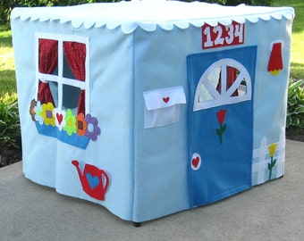 Card Table Playhouse, Kids Tent, Fabric Playhouse, Kids Tent, Indoor Playhouse, Play Tent, Tablecloth Playhouse, Personalized, Custom Order