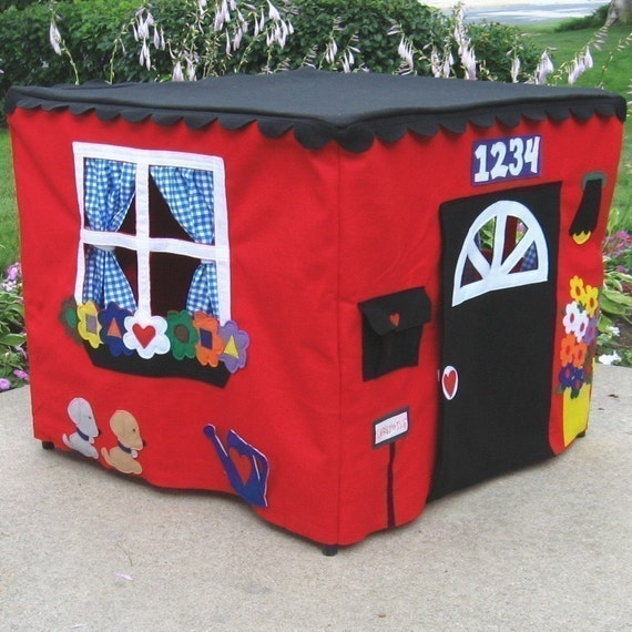 Construction Site Card Table Playhouse