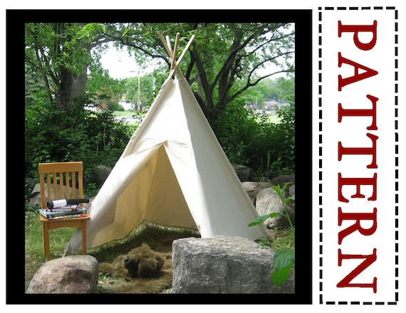 Teepee Pattern Sewing Pattern Easy to Sew Play Tent | Etsy