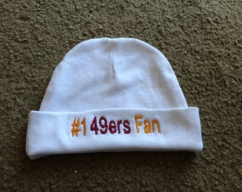 d5b9625e07b San Francisco 49ers Football Baby Infant Newborn Hat Embroidered