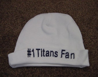 50fad7821e13a Tennessee Titans Football Baby Infant Newborn Hat Embroidered