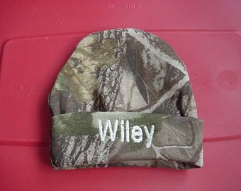Personalized Infant Cap Embroidered Camouflage Camo Mossy Oak Or Realtree