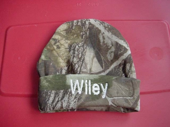c14b6a4327e Personalized Infant Cap Embroidered Camouflage Camo Mossy Oak