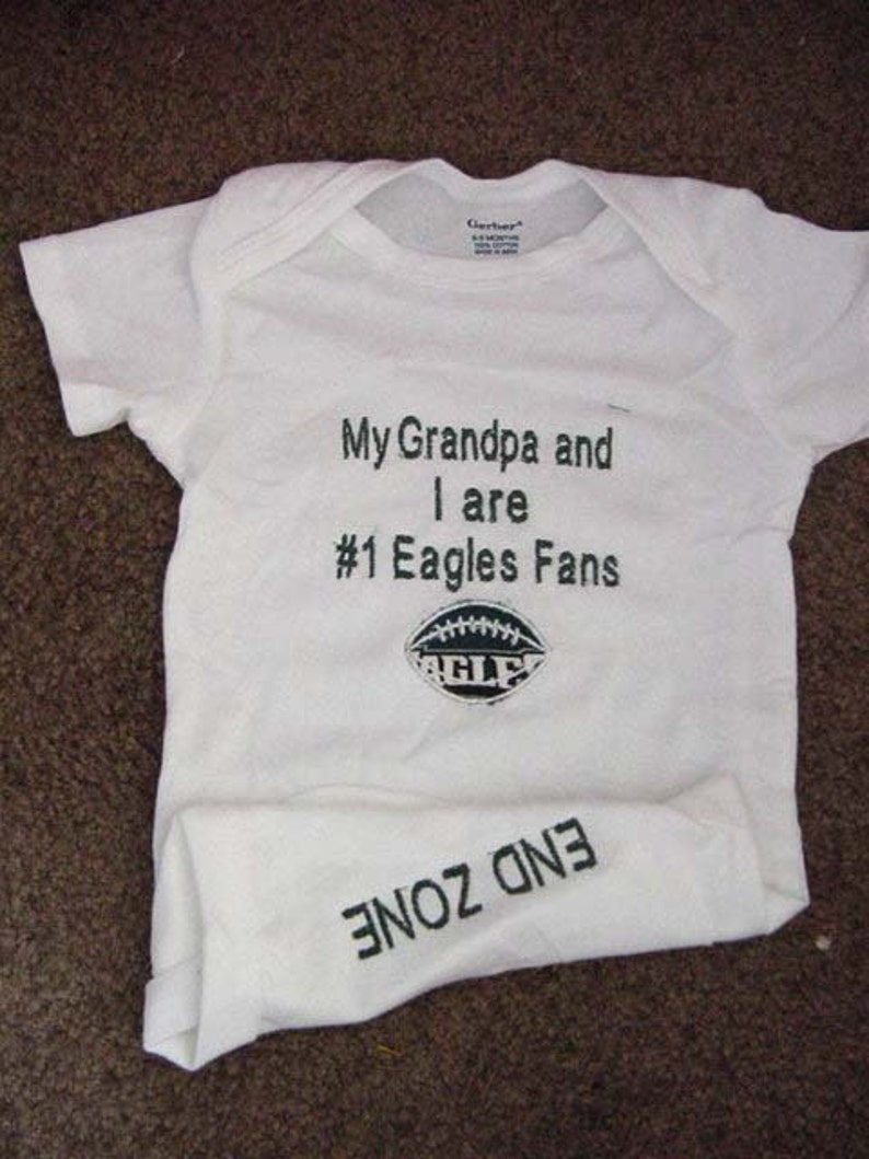 info for 8383d 4d33d Philadelphia Eagles Fan Football Baby Infant Newborn Onesie Creeper Infant  Newborn Personalized Embroidered