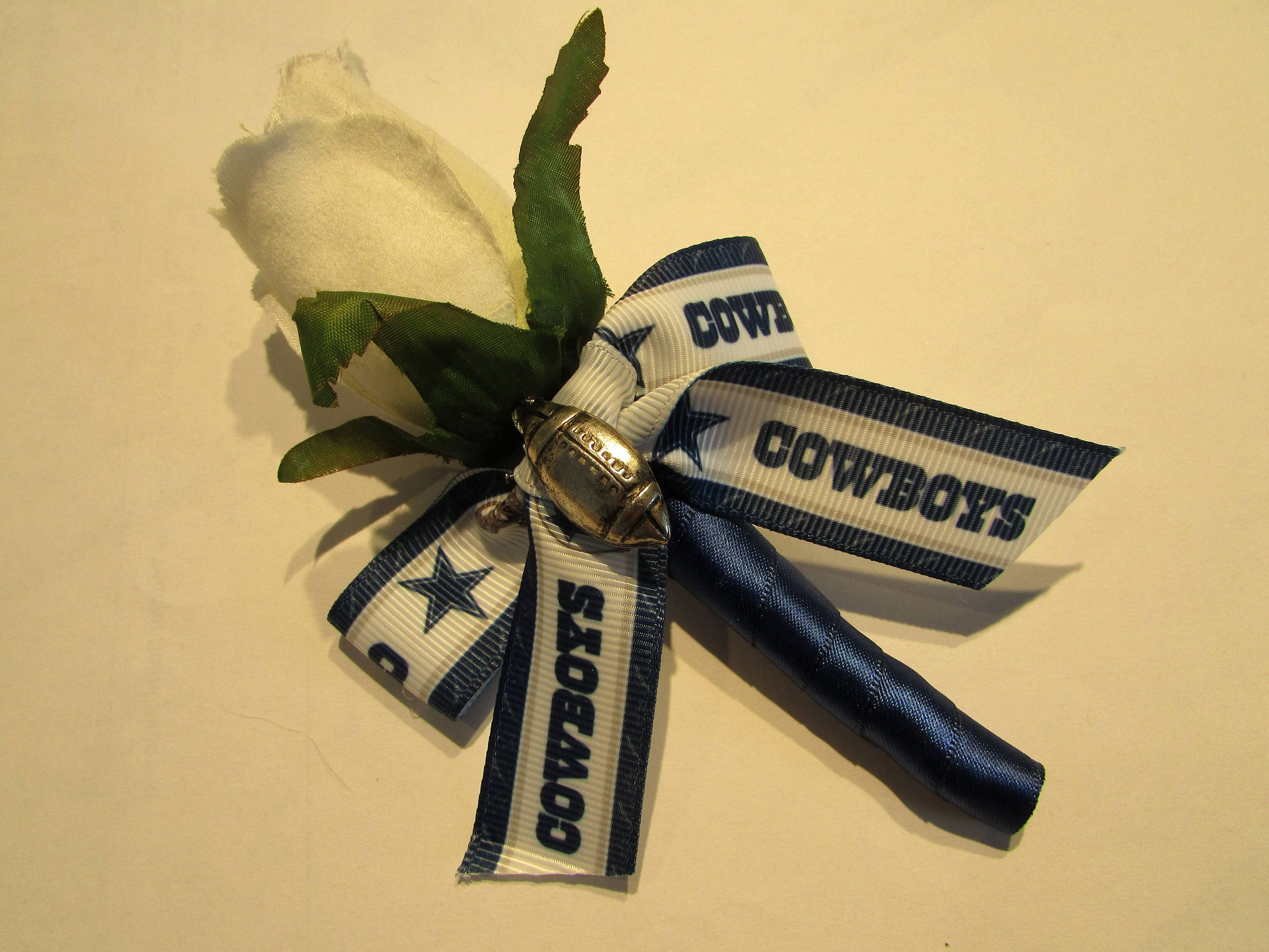 Dallas cowboys football real touch rose boutonniere wedding etsy zoom mightylinksfo