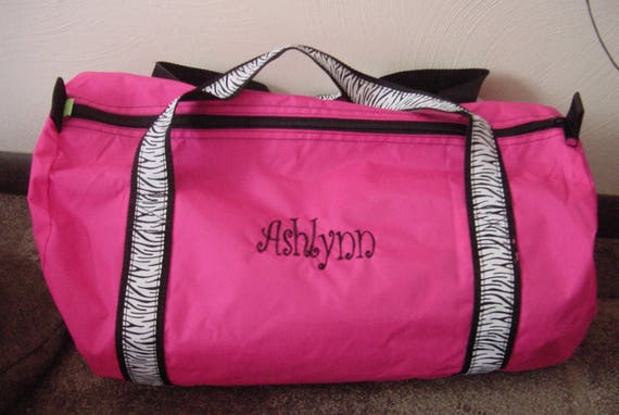 Personalized Girls Sports Gym Overnight Duffle bag Embroidered  f255292c60bd6