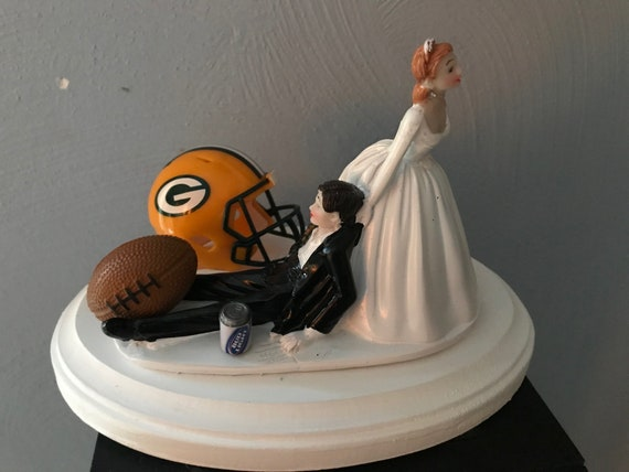 Green Bay Packers Wedding Cake Topper Bridal Funny Football Etsy