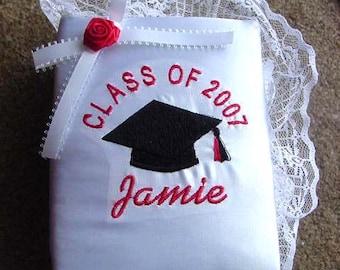 High School Graduation Graduate College Class of 2018 Satin Photo album Personalized embroidered