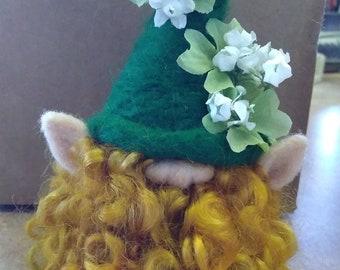 Custom made Needle felted gnomes, Leprechaun, woodland, fantasy and seasonal wool sculptures