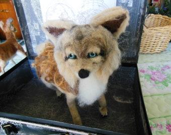 Coyote , Needle Felted Coyote, Wool Felted Coyote, Needle Felted Animal