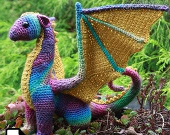 Adult Dragon Crochet Amigurumi Pattern DIGITAL PDF by Crafty Intentions