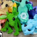 Newborn Baby Dragon Crochet Pattern Amigurumi DIGITAL PDF