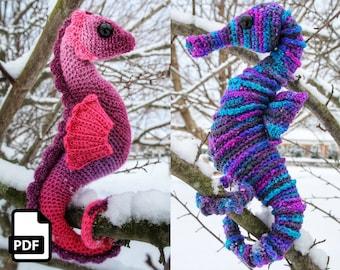 Seahorse Crochet Amigurumi Pattern DIGITAL PDF Download by Crafty Intentions