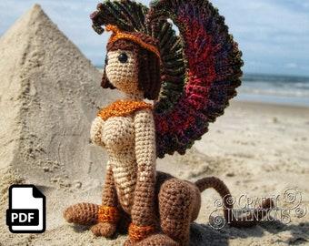 Sphinx Crochet Amigurumi Pattern DIGITAL PDF by Crafty Intentions