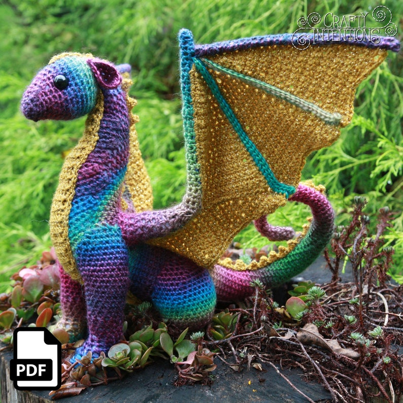 Dragon Crochet Amigurumi Pattern Digital Pdf By Crafty Etsy