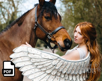 Feather Wing Crochet Shawl Pattern by Crafty Intentions DIGITAL PDF Downloadable