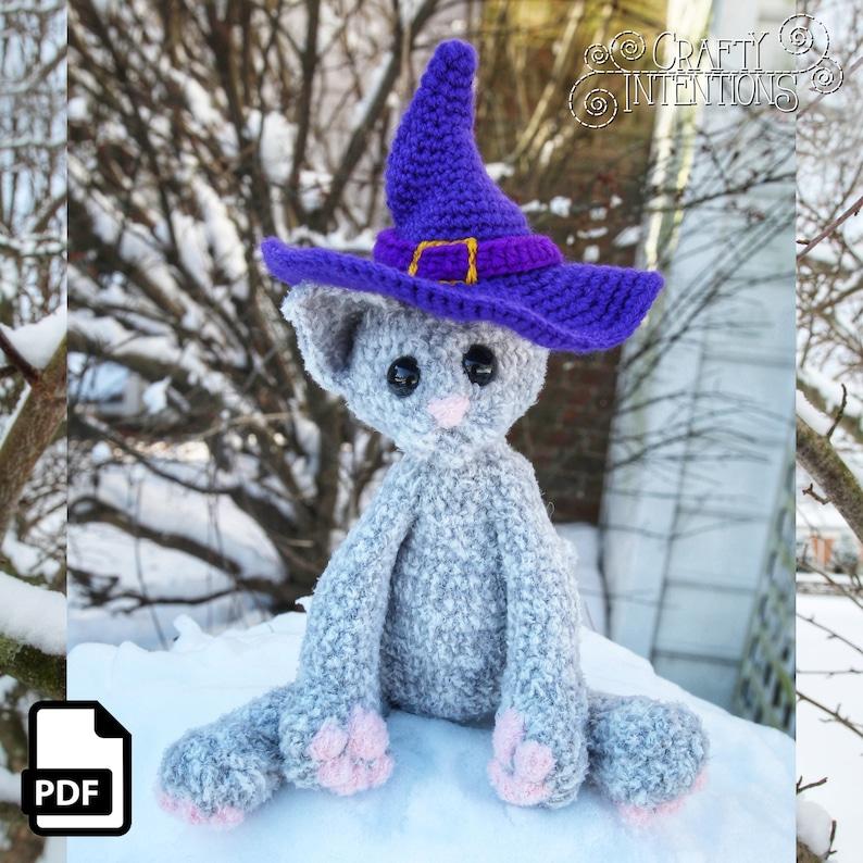 Wizard Kitten Amigurumi Crochet Pattern DIGITAL PDF by Crafty image 0
