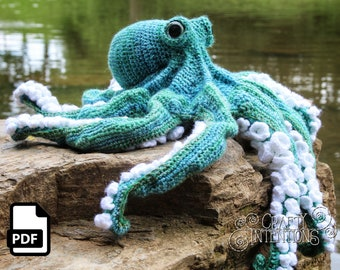 Realistic Octopus Crochet Pattern by Crafty Intentions DIGITAL PDF Downloadable