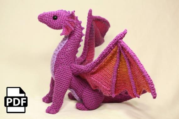 Dragon Crochet Amigurumi Pattern DIGITAL PDF by Crafty Intentions