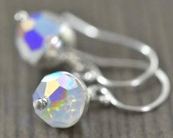 Swarovski Crystal Birthstone earrings, Sterling silver, All 12 birthstones assortment gifts for her