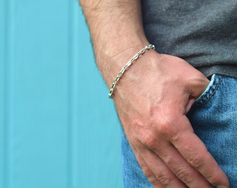 Mens silver bracelet Unisex bracelet Sterling silver bracelet, Made in Italy bracelet gifts for him