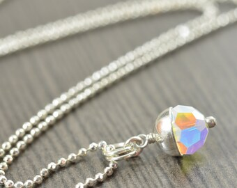 Swarovski Crystal Birthstone necklaces, Sterling silver pendants, All 12 birthstones assortment gifts for her