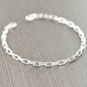 Details about  /Wheat Chain - Sterling Silver Necklace, Anklet, Bracelet Made in Italy YI