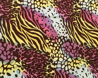 Ombre' Multi Animal prints Fabric