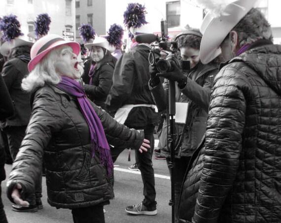 """""""Roar,"""" New York City Women's March, 2017."""