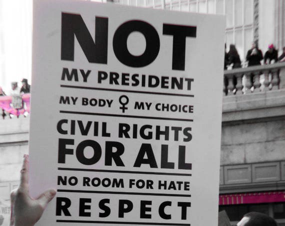 """""""Civil Rights for All,"""" New York City Women's March, 2017."""