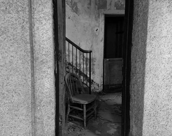 """Psych Ward Doorway,"" Ellis Island Immigrant Hospital, New Jersey, 2017."