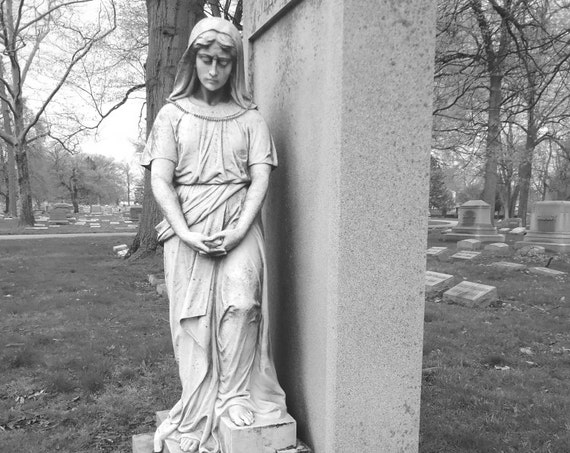 """""""Pray for Us,"""" Crown Hill Cemetery, Indianapolis, Indiana, 2013."""