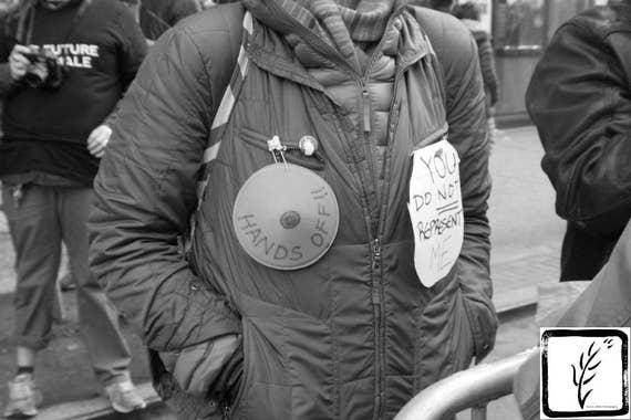 """Hands Off,"" New York City Women's March, 2017."