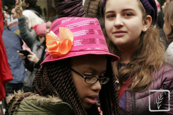 """""""All Sizes,"""" New York City Women's March, 2017."""