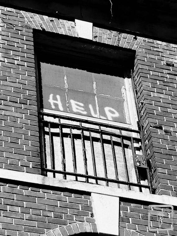 """Help,"" Kings Park Psychiatric Hospital, Kings Park, New York, 2017."