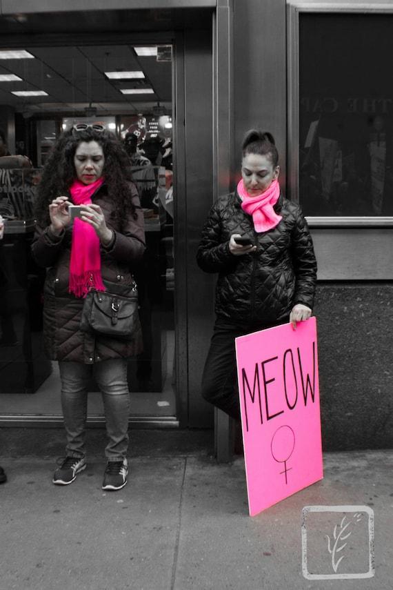 """Modern Marching,"" New York City Women's March, 2017."