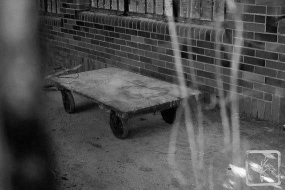 """Handtruck,"" Kings Park Psychiatric Hospital, Kings Park, New York, 2017."