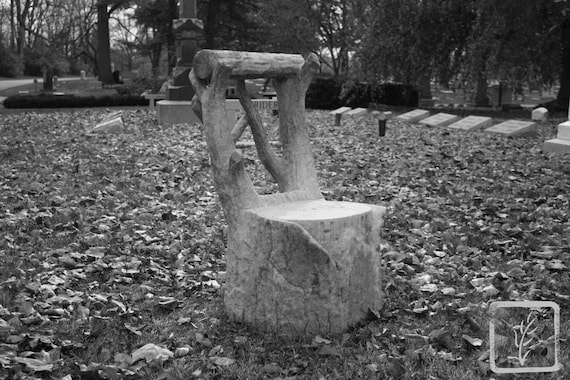 """""""Seated Alone,"""" Crown Hill Cemetery, Indianapolis, Indiana, 2013."""
